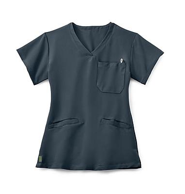 Medline Berkeley AVE. Women XL Scrub Top, Charcoal (5582CHRXL)