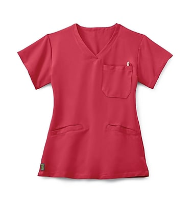 Medline Berkeley AVE. Women 3XL Scrub Top, Pink (5582PNKXXXL)