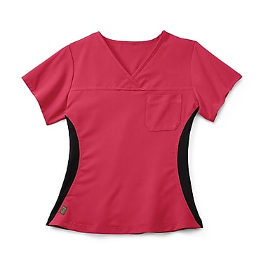 Medline Michigan ave Women Medium Scrub Top, Pink (5564PNKM)