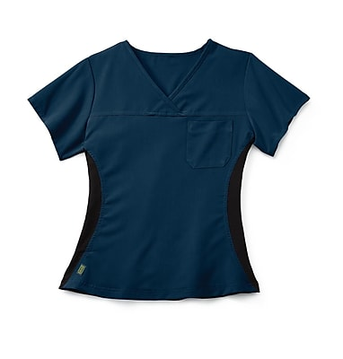 Medline Michigan ave Women Small Scrub Top, Navy (5564NVYS)