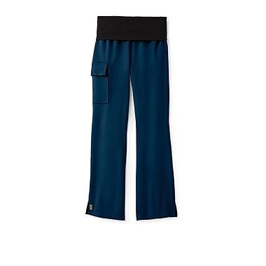 Medline Ocean ave Women Medium Petite Yoga Scrub Pants, Navy (5560NVYMP)