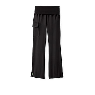 Medline Ocean ave Women Large Tall Yoga Scrub Pants, Black (5560BLKLT)