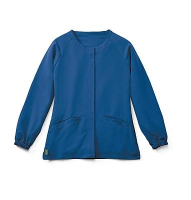 Medline Addison AVE. Unisex Large Scrub Jacket, Royal Blue (5540RYLL)