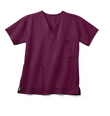 Medline Madison ave Unisex Medium Scrub Top, Wine (5515WNEM)
