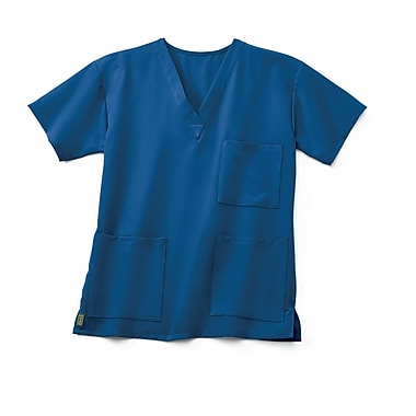 Medline Madison ave Unisex XS Scrub Top, Royal Blue (5515RYLXS)