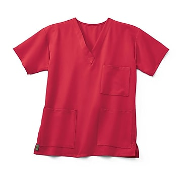Medline Madison ave Unisex XL Scrub Top, Pink (5515PNKXL)