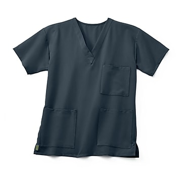 Medline Madison ave Unisex XL Scrub Top, Charcoal (5515CHRXL)