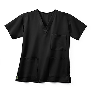 Medline Madison ave Unisex Large Scrub Top, Black (5515BLKL)