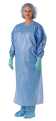 Medline XL Open Back Isolation Gowns, Blue (NON27279XL)