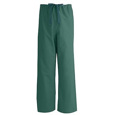 Medline AngelStat Unisex Small Reversible Drawstring Scrub Pants, Hunter Green (600NHGS-CA)