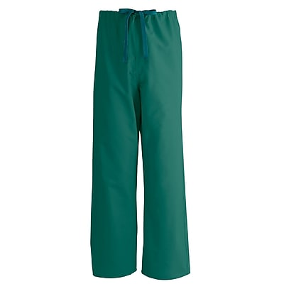 Medline AngelStat Unisex 5XL Reversible Drawstring Scrub Pants, Hunter Green (600NHG5XL-CA)