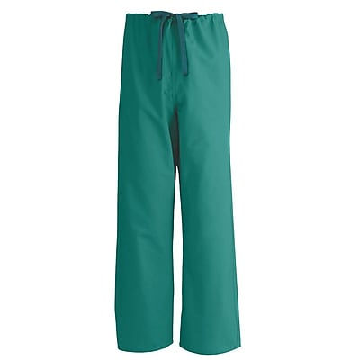 Medline AngelStat Unisex Large Reversible Drawstring Scrub Pants, Emerald (600NJTL-CA)
