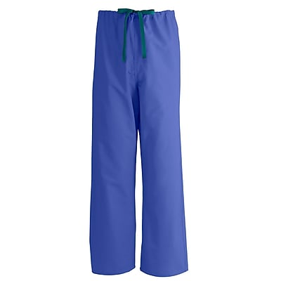Medline AngelStat Unisex XS Reversible Drawstring Scrub Pants, Purple (600NRPXS-CA)
