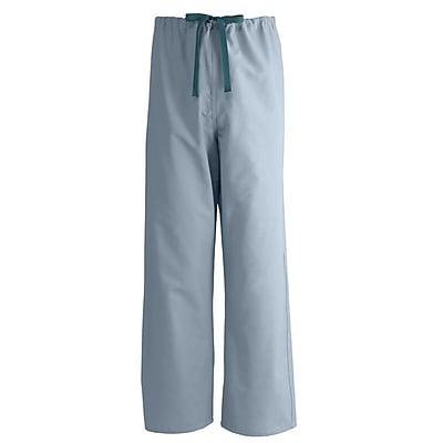 Medline AngelStat Unisex Small Reversible Drawstring Scrub Pants, Misty Green (601NTZS-CM)