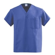 Medline AngelStat Unisex XL Reversible V-Neck Scrub Top, Purple (610NRPXL-CA)