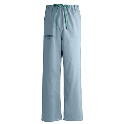 Medline Unisex Small Reversible Hyperbaric Drawstring Scrub Pants, Misty Green (659MZSS-CM)