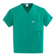 Medline PerforMAX Unisex Small One-Pocket Reversible Scrub Top, Jade Green (810NTJS-CA)
