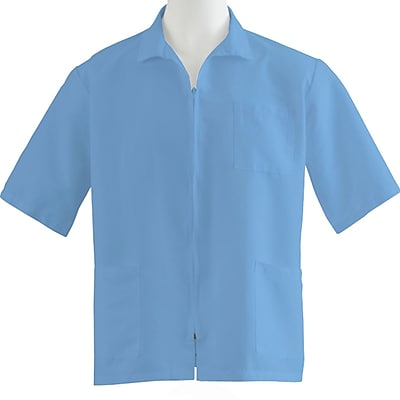 Medline Unisex 3XL Zip Front Smock, Light Blue (87005RCWXXXL)