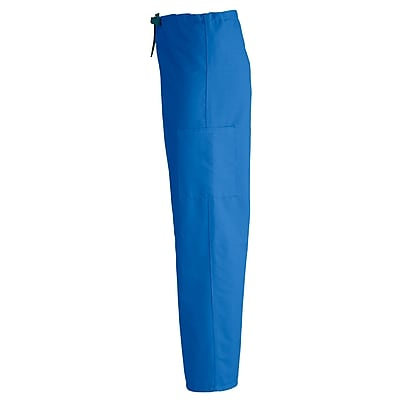 Medline ComfortEase Unisex XL Cargo Scrub Pants, Royal Blue (950JRLXL-CM)