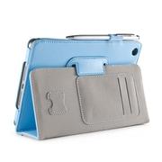 i-Blason MINI2-1F-BLUE Synthetic Leather Folio Case for Apple iPad Mini 3, Blue
