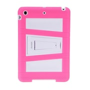 i-Blason IPAD5-ABH-PINK Silicone Case for Apple iPad Air, Pink/White