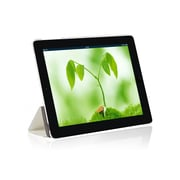i-Blason IPAD5-3F-WHITE Faux Leather Folio Case for Apple iPad Air, White