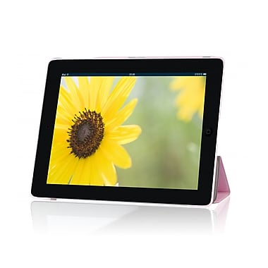 i-Blason IPAD5-3F-PINK Faux Leather Folio Case for Apple iPad Air, Pink