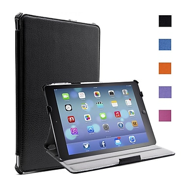 i-Blason IPAD5-H-BLACK Faux Leather Slim Folio Case for Apple iPad Air, Black
