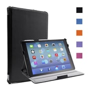 i-Blason IPAD5-H-BLACK Faux Leather Slim Folio Case for Apple iPad Air, Black