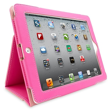 Snugg B00FF757Z6 Polyurethane Leather Folio Case and Flip Stand for Apple iPad 2, Hot Pink