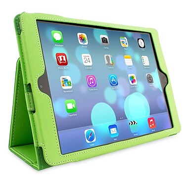 Snugg B00HA6VASS Polyurethane Leather Folio Case Cover and Flip Stand for Apple iPad Air/iPad 5, Green