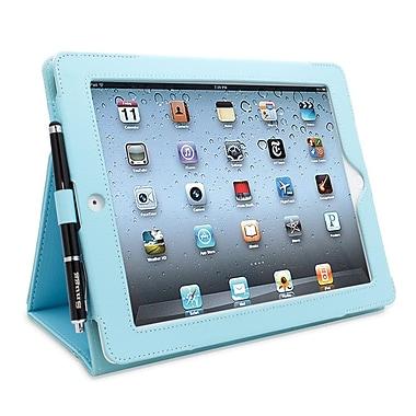Snugg B008X1JAIQ Polyurethane Leather Folio Case and Flip Stand for Apple iPad 2, Baby Blue