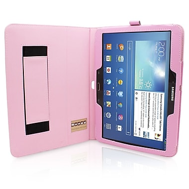Snugg B00EQ6VRMY Polyurethane Leather Folio Case Cover and Flip Stand for 10.1