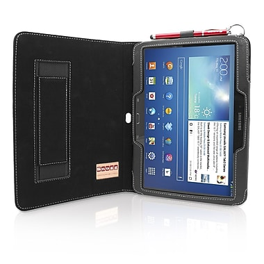 Snugg B00E3C4A7K Polyurethane Leather Folio Case Cover and Flip Stand for 10.1