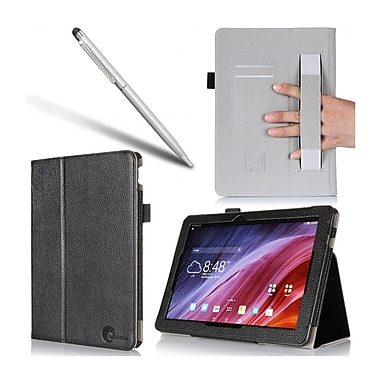 i-Blason ASTF103C-1F-BLK Synthetic Leather Folio Case for ASUS Transformer Pad Tablet, Black