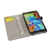 """i-Blason GTAB4-7-1F-BLK Synthetic Leather Slim Book Case for 7"""" Samsung Galaxy Tab 4, Black"""