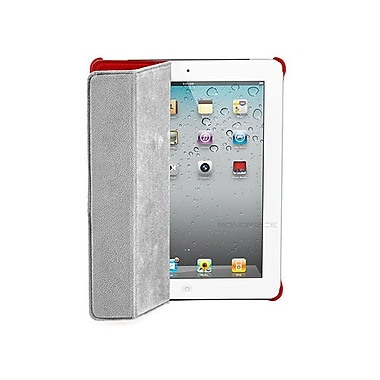 Monoprice 109760 Synthetic Leather Folio Case for Apple iPad 2/3/4, Red