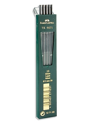 Faber-Castell TK 9400 Clutch Drawing Pencil Leads 3B pack of 10 [Pack of 3]