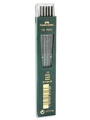 Faber-Castell TK 9400 Clutch 3H Drawing Pencil Leads, 10/Set, 3/Pack (98418-PK3)