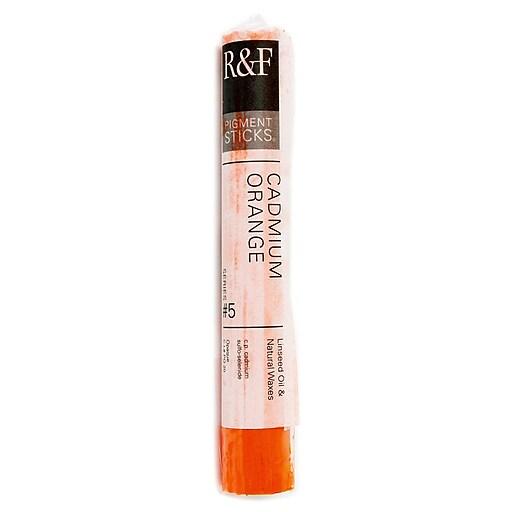 R  and  F Handmade Paints Pigment Sticks cadmium orange 38 ml