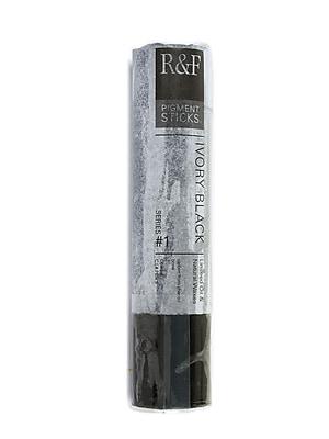 R and F Handmade Paints Pigment Sticks ivory black 188 ml