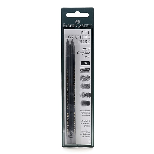 Faber-Castell Pitt Monochrome Graphite Pencils 6B [Pack of 3]