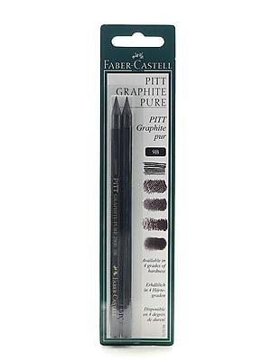 Faber-Castell Pitt Monochrome Graphite Pencils 9B [Pack of 3]