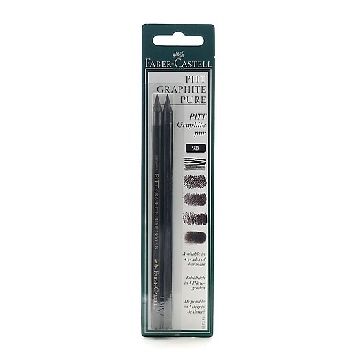 Faber-Castell Pitt Monochrome Graphite Pencils 9B [Pack of 3]