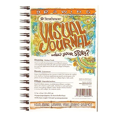 Strathmore Visual Drawing Journals 5 1/2 in. x 8 in. 42 sheets [Pack of 3]