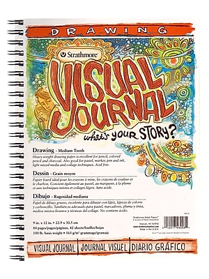 Strathmore Visual Drawing Journals 9 in. x 12 in. 42 sheets [Pack of 2]