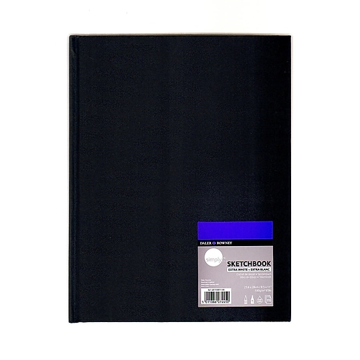 Daler-Rowney Simply Sketchbooks extra white 8 1/2 in. x 11 in. pad of 110 [Pack of 2]