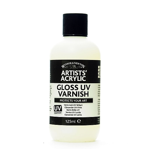 Winsor and Newton Artists' Acrylic UV Varnishes gloss 125 ml bottle [Pack of 2]