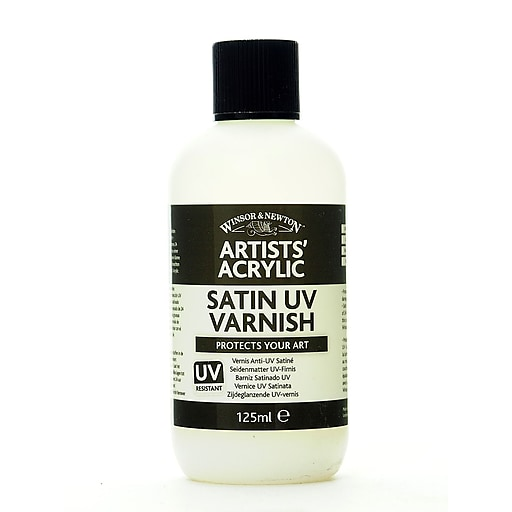 Winsor and Newton Artists' Acrylic UV Varnishes satin 125 ml bottle [Pack of 2]