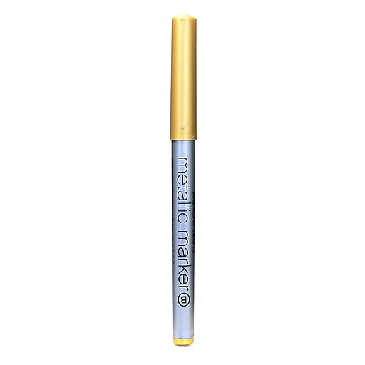 American Crafts Metallic Markers gold broad [Pack of 12]